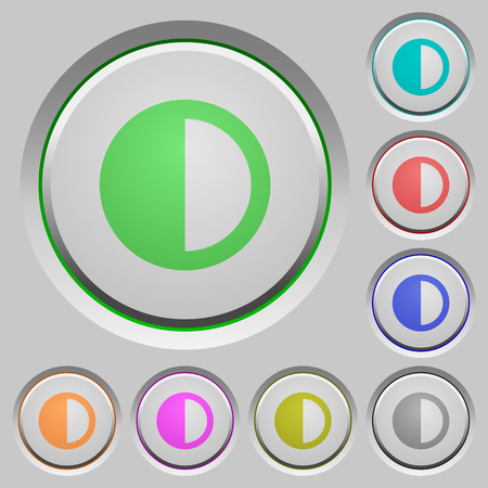Contrast control color icons on sunk push buttons Illustration