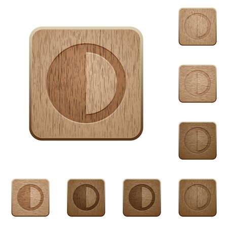 slur: Contrast control on rounded square carved wooden button styles