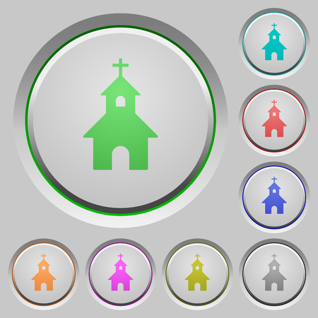 curch: Curch color icons on sunk push buttons