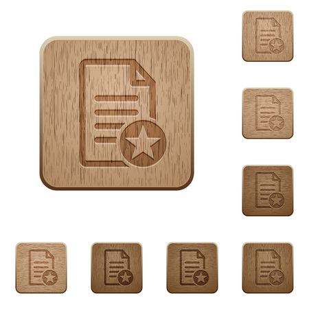 carved letters: Favorite document on rounded square carved wooden button styles