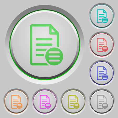 bevel: Document options color icons on sunk push buttons
