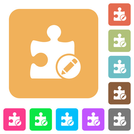 alter: Rename plugin flat icons on rounded square vivid color backgrounds.
