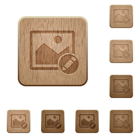 photo album: Rename image on rounded square carved wooden button styles