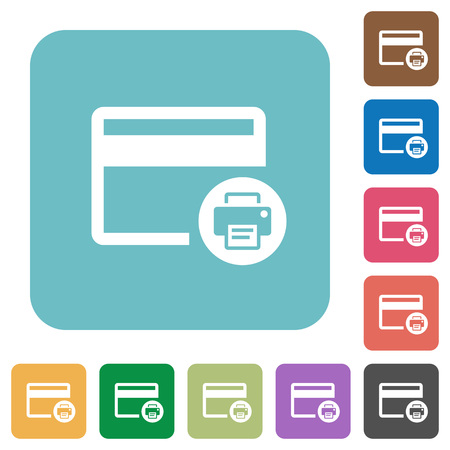 delete credit card white flat icons on color rounded square