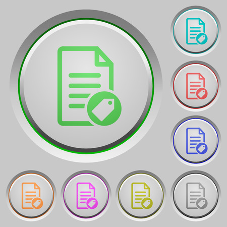 Tagging document color icons on sunk push buttons