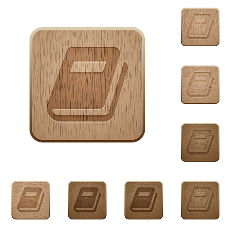 stealthy: Personal diary on rounded square carved wooden button styles