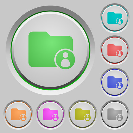 dossier: Directory owner color icons on sunk push buttons