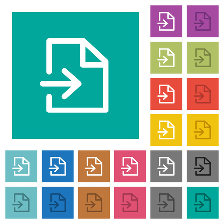 get in shape: Import multi colored flat icons on plain square backgrounds. Included white and darker icon variations for hover or active effects.
