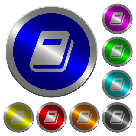 Personal diary icons on round luminous coin-like color steel buttons
