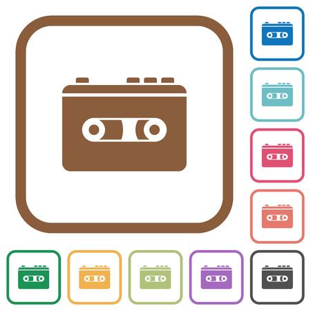 Vintage retro player simple icons.