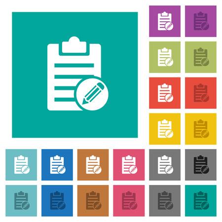 Edit note icon. 向量圖像