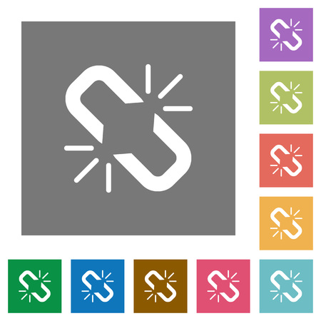 Unlink flat icons on simple color square backgrounds