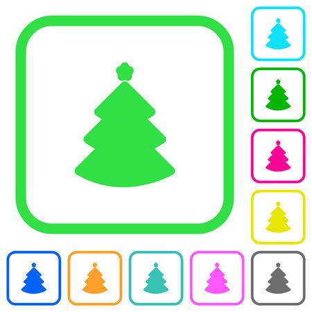 Christmas tree flat icons