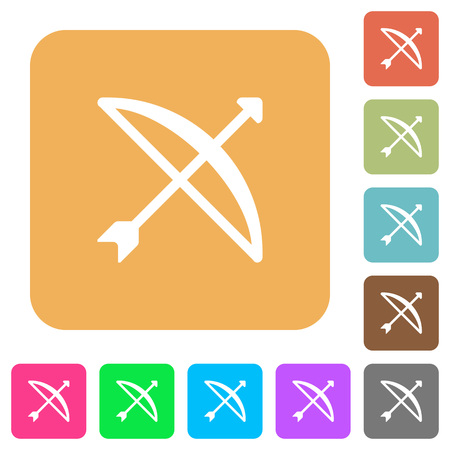 Bow with arrow flat icons