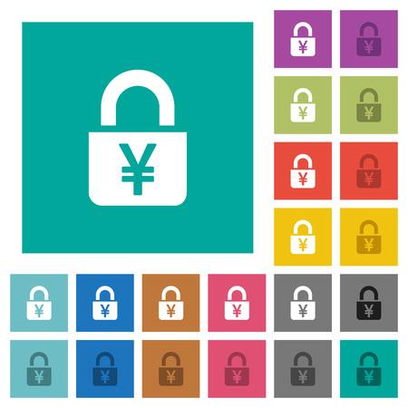 Locked Yens flat icons