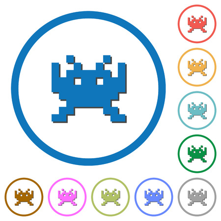 Video game flat icons