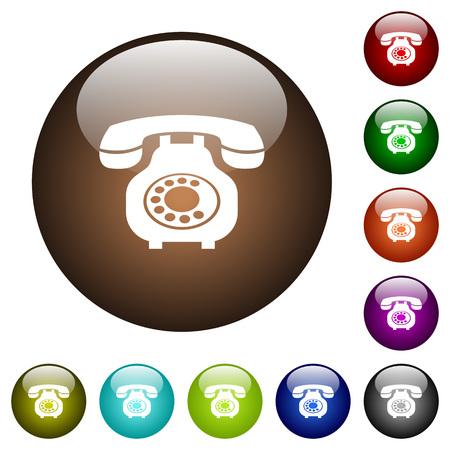 Vintage retro telephone icons