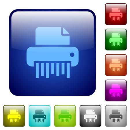 Office shredder icons Иллюстрация