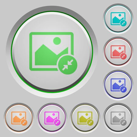 Resize image small color icons on sunk push buttons