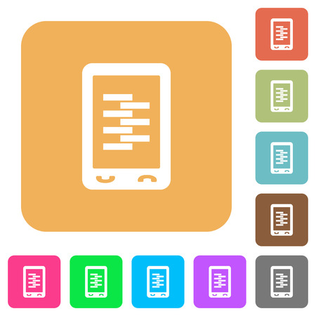 Colorful set of mobile compress data icons. Illustration