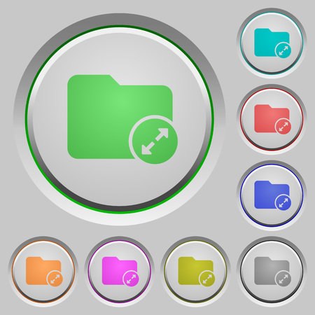 Uncompress directory color icons on sunk push buttons Illustration