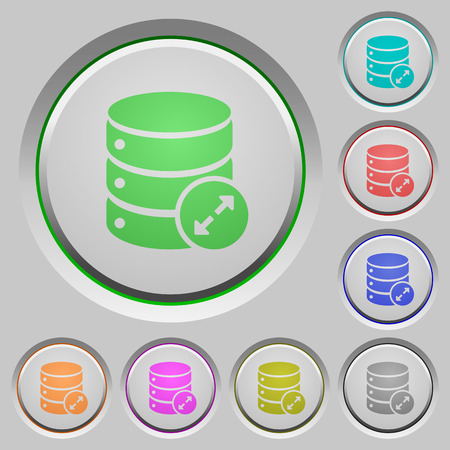 Expand database color icons on sunk push buttons Illustration