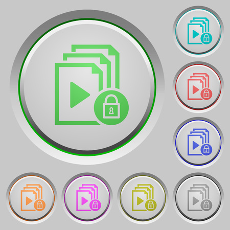 Lock playlist color icons on sunk push buttons Illustration