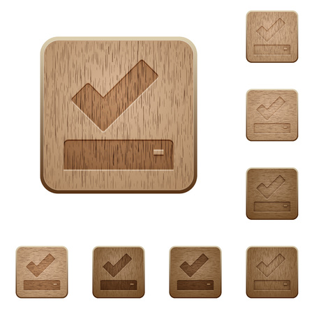 Successfully saved on rounded square carved wooden button styles