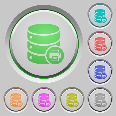 Print Database data color icons on sunk push buttons