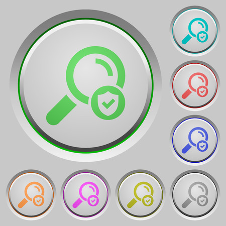 Safe search color icons on sunk push buttons
