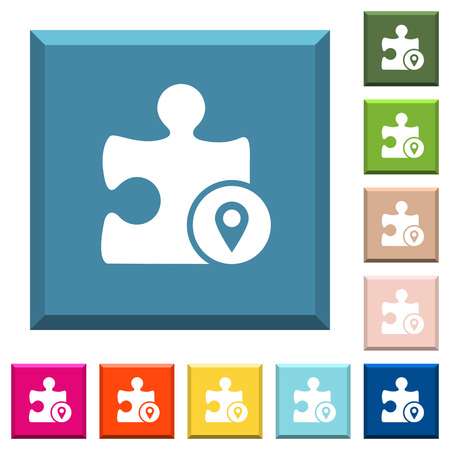 GPS plugin white icons on edged square buttons in various trendy colors
