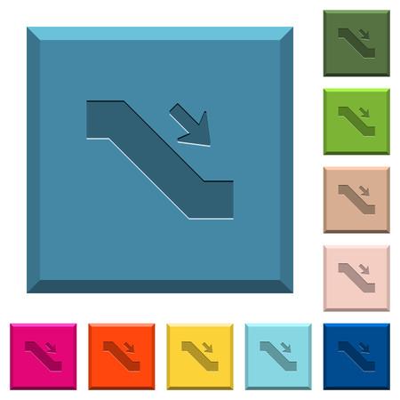 Escalator down icons Illustration