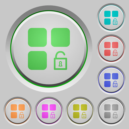 Unlock component color icons on sunk push buttons