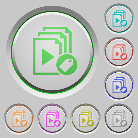 Tag playlist color icons on sunk push buttons