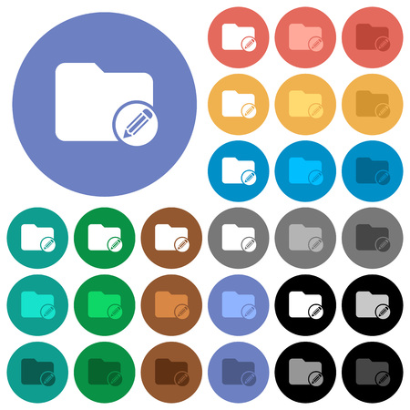 Edit directory multi colored flat icons on round backgrounds.
