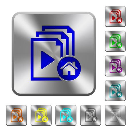 Default playlist engraved icons set