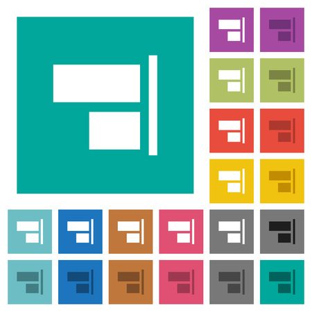 Align to right multi colored flat icons
