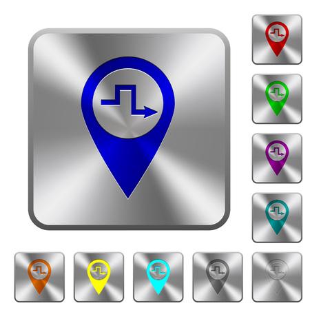 Icônes de la route de la Banque d'images - 96075148