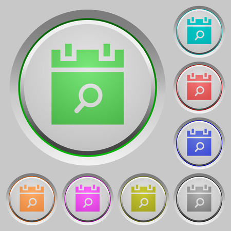 Find schedule item color icons on sunk push buttons