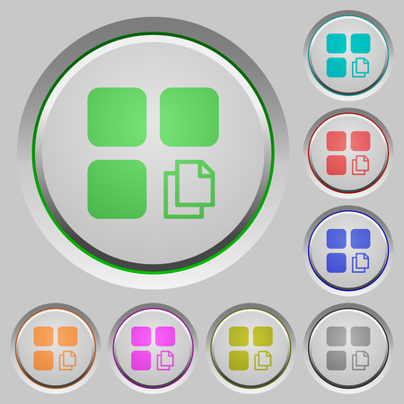 Copy component color icons on sunk push buttons