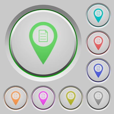 GPS map location details color icons on sunk push buttons