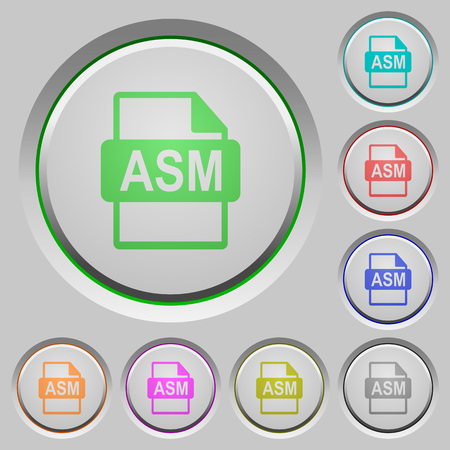 ASM file format color icons on sunk push buttons