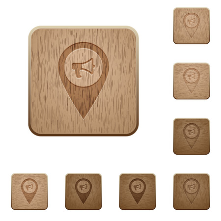 Voice navigation on rounded square carved wooden button styles