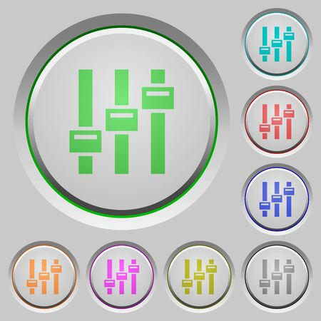 Adjust color icons on sunk push buttons Stock Vector - 97030214