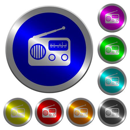 Vintage retro radio icons vector set