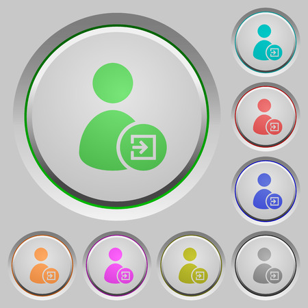 Import user data color icons on sunk push buttons Illustration
