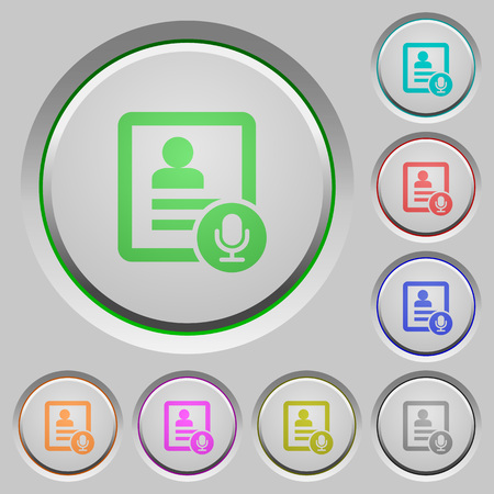 Contact voice calling color icons on sunk push buttons