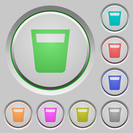 Drink color icons on sunk push buttons