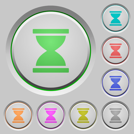 Hourglass color icons on sunk push buttons
