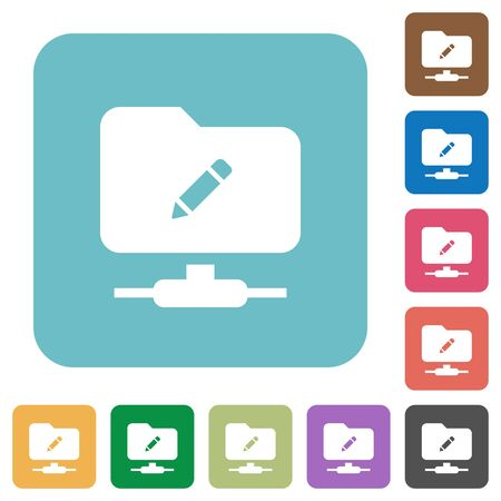 FTP rename white flat icons on color rounded square backgrounds